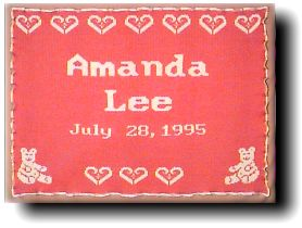 Teddy Bears and Hearts Style Receiving Size Personalized Baby Blanket